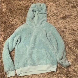 Blue Justice fluffy hoodie
